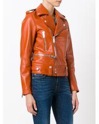 Golden Goose Deluxe Brand - Orange Dabon Biker Jacket - Lyst