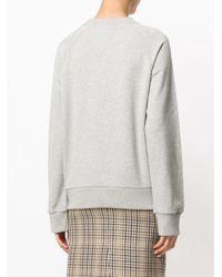 Peter Jensen - Gray Printed Sweatshirt - Lyst