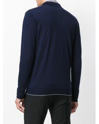 Eleventy - Blue Classic Collar Cardigan for Men - Lyst