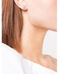 Sara Weinstock - Metallic 18kt White Gold Illusion Emerald Cut Diamond Stud Earrings - Lyst