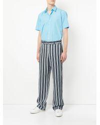 Cerruti 1881 - Blue Curved Hem Shirt for Men - Lyst