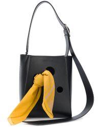CALVIN KLEIN 205W39NYC Black Scarf Shoulder Bag