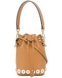Fendi - Brown Mon Tresor Mini Bucket Bag - Lyst