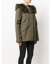 Army by Yves Salomon - Green Parka Coat - Lyst