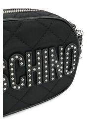 Moschino - Black Quilted Crossbody Bag - Lyst