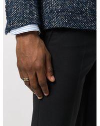 Bottega Veneta - Metallic Double Band Ring for Men - Lyst