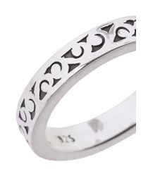 Lois Hill - Metallic Carved Ring - Lyst