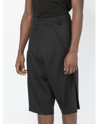 Moohong - Black Dropped-crotch Tailored Shorts for Men - Lyst
