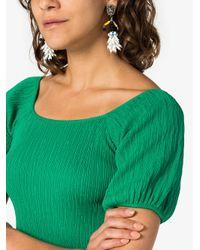 Marni - White Beaded Clip-on Earrings - Lyst