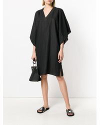 Reality Studio - Black V-neck Tunic Dress - Lyst