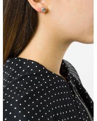Niza Huang - Metallic Crush Stone Stud Earrings - Lyst