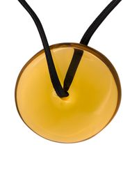 Monies - Black Disc Pendant Necklace - Lyst