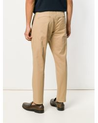 Entre Amis - Natural Drawstring Tapered Trousers for Men - Lyst