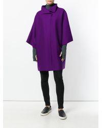 Harris Wharf London - Purple Oversized Short-sleeve Coat - Lyst