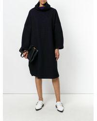 Issey Miyake - Black Oversized Cowl Neck Dress - Lyst