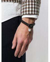 Bottega Veneta - Black Nero Intrecciato Nappa Bracelet for Men - Lyst