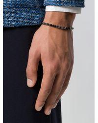 Eleventy - Black Beads Charm Bracelet for Men - Lyst