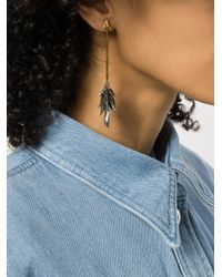 Givenchy - Metallic Asymmetric Dangly Leaf Earrings - Lyst