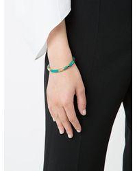 Aurelie Bidermann - Metallic Striped Cuff Bracelet - Lyst