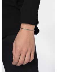Thoraval - Metallic Oval 'love' Bracelet for Men - Lyst