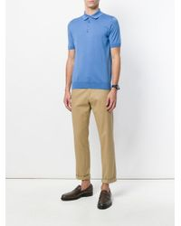 Dell'Oglio - Blue Classic Polo Shirt for Men - Lyst
