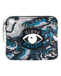 KENZO - Gray Eye Tiger Print Wallet - Lyst