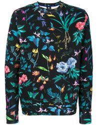PS by Paul Smith | Blue Floral Print Sweatshirt for Men | Lyst