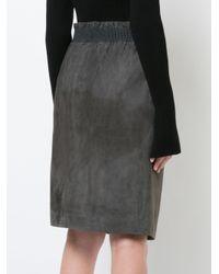 Fabiana Filippi - Gray Elasticated Waist Skirt - Lyst