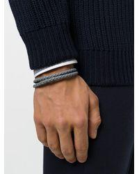 Tod's | Gray Braided Bracelet for Men | Lyst