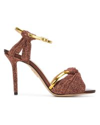 Charlotte Olympia - Metallic Broadway 95 Sandals - Lyst