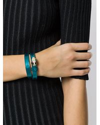 BVLGARI - Blue Wrap Bracelet - Lyst