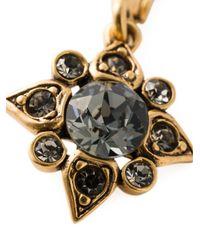 Oscar de la Renta - Gray Star Crystal Earrings - Lyst