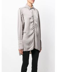Yang Li - Gray Long Zipped Shirt - Lyst