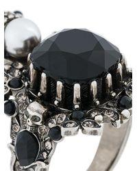 Alexander McQueen - Metallic House Of Skull Ring for Men - Lyst