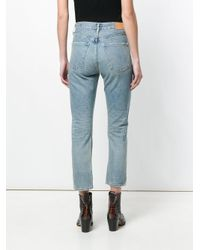Citizens of Humanity - Blue Dree Straight Cropped Jeans - Lyst