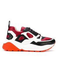 Stella McCartney - Red Colour Block Sneakers for Men - Lyst