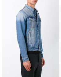 AMI - Blue Denim Jacket for Men - Lyst