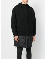 Juun.J - Black Layered Hooded Coat for Men - Lyst