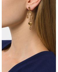 Chloé - Metallic Collected Hearts Charm Earrings - Lyst