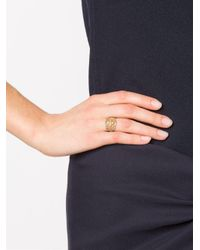 Loree Rodkin - Metallic 'princess' Lacey Cross Diamond Ring - Lyst