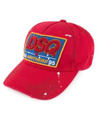 DSquared² - Red Dsq Logo Patch Baseball Cap for Men - Lyst