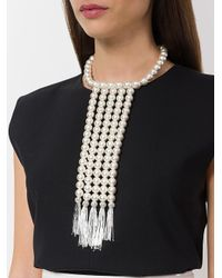 Moy Paris - White Bib Necklace - Lyst
