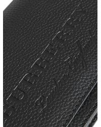 Burberry - Black Logo Embossed Chain Wallet - Lyst
