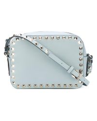 Valentino - Blue Garavani Rockstud Crossbody Bag - Lyst