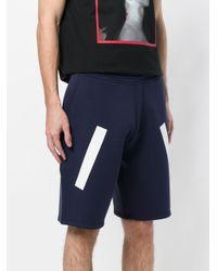 Neil Barrett - Blue Line Detail Shorts for Men - Lyst