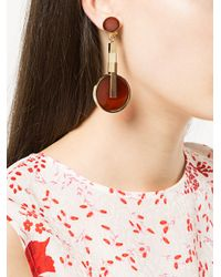 Crystalline - Metallic Agate Earrings - Lyst