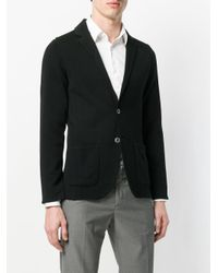 Lardini - Black Jersey Blazer for Men - Lyst