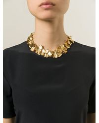 Aurelie Bidermann - Metallic Ginkgo Necklace - Lyst