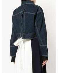 Comme Moi - Blue Denim Cropped Jacket - Lyst