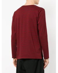 Attachment - Black Striped T-shirt for Men - Lyst